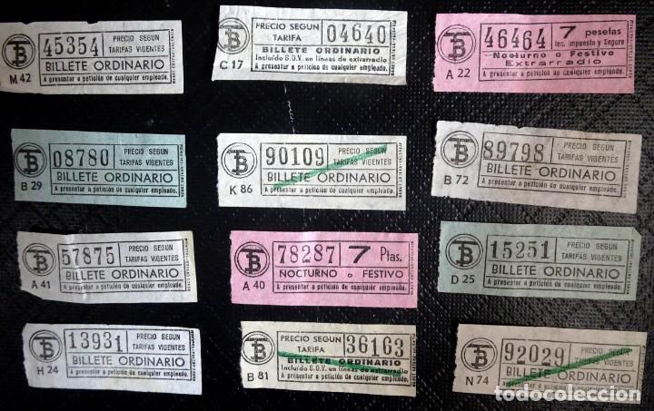LOTE DE 12 ANTIGUOS BILLETES TB , TODOS CAPICUA, VER FOTOS (Coleccionismo - Billetes de Transporte)
