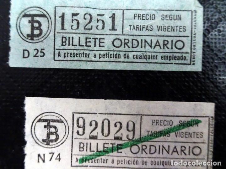 Coleccionismo Billetes de transporte: LOTE DE 12 ANTIGUOS BILLETES TB , TODOS CAPICUA, VER FOTOS - Foto 2 - 132198942