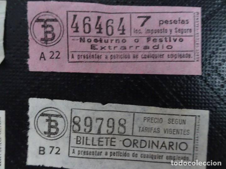 Coleccionismo Billetes de transporte: LOTE DE 12 ANTIGUOS BILLETES TB , TODOS CAPICUA, VER FOTOS - Foto 3 - 132198942