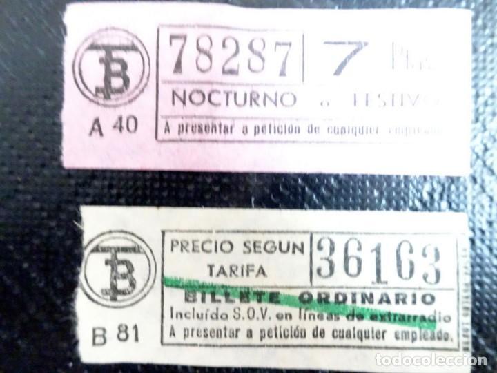Coleccionismo Billetes de transporte: LOTE DE 12 ANTIGUOS BILLETES TB , TODOS CAPICUA, VER FOTOS - Foto 4 - 132198942