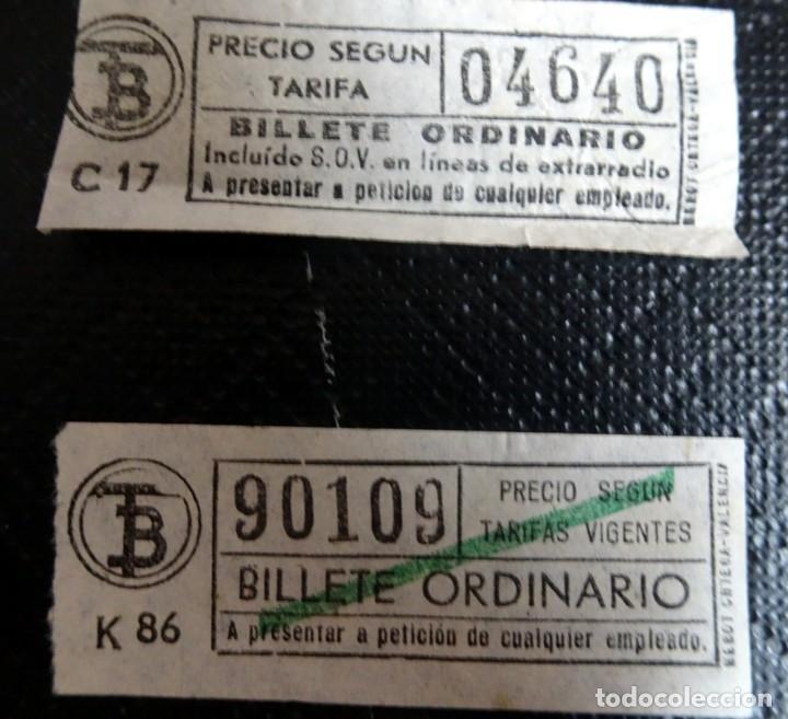 Coleccionismo Billetes de transporte: LOTE DE 12 ANTIGUOS BILLETES TB , TODOS CAPICUA, VER FOTOS - Foto 5 - 132198942