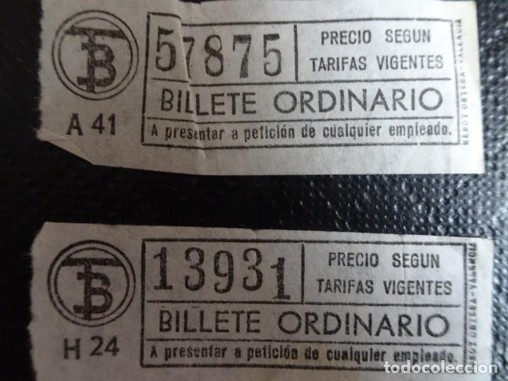 Coleccionismo Billetes de transporte: LOTE DE 12 ANTIGUOS BILLETES TB , TODOS CAPICUA, VER FOTOS - Foto 6 - 132198942