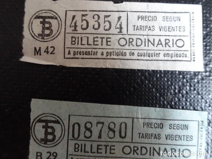 Coleccionismo Billetes de transporte: LOTE DE 12 ANTIGUOS BILLETES TB , TODOS CAPICUA, VER FOTOS - Foto 7 - 132198942