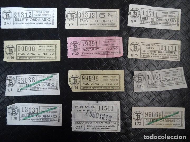 LOTE DE 11 ANTIGUOS BILLETES TB Y OTRO FERROCARRIL, TODOS CAPICUA, VER FOTOS (Coleccionismo - Billetes de Transporte)