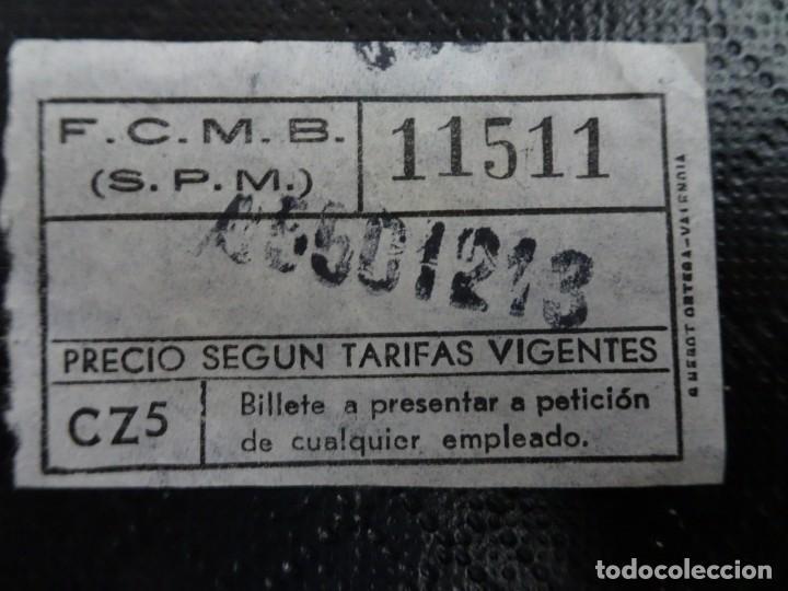 Coleccionismo Billetes de transporte: LOTE DE 11 ANTIGUOS BILLETES TB Y OTRO FERROCARRIL, TODOS CAPICUA, VER FOTOS - Foto 5 - 132199082