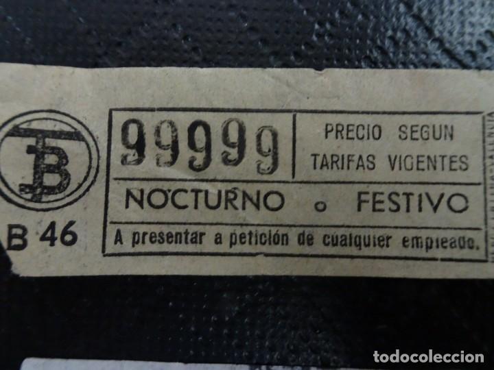 Coleccionismo Billetes de transporte: LOTE DE 11 ANTIGUOS BILLETES TB Y OTRO FERROCARRIL, TODOS CAPICUA, VER FOTOS - Foto 6 - 132199082
