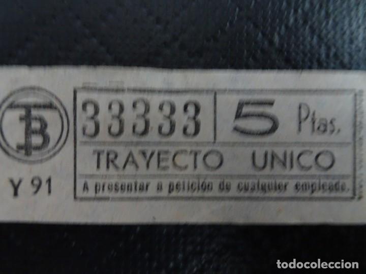 Coleccionismo Billetes de transporte: LOTE DE 11 ANTIGUOS BILLETES TB Y OTRO FERROCARRIL, TODOS CAPICUA, VER FOTOS - Foto 7 - 132199082