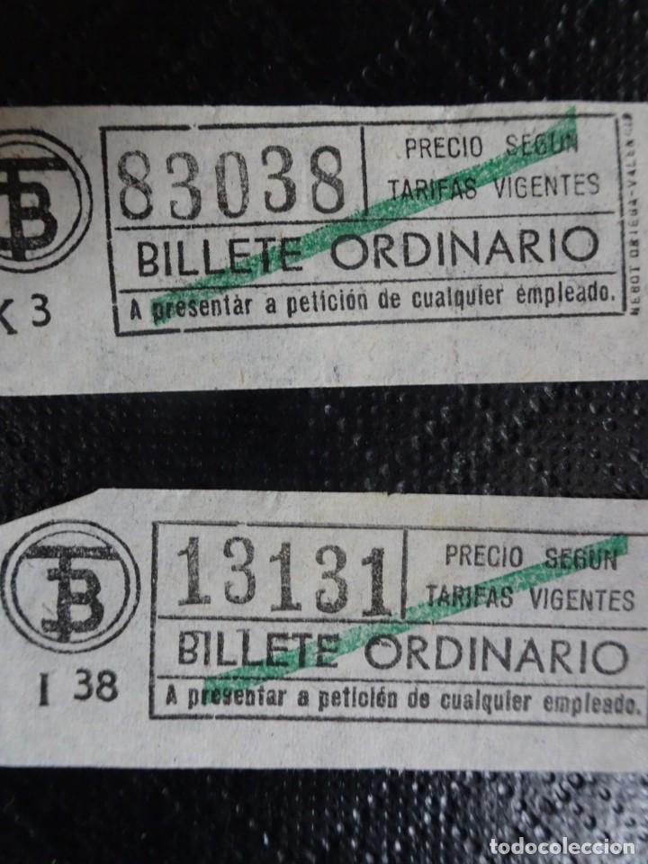 Coleccionismo Billetes de transporte: LOTE DE 11 ANTIGUOS BILLETES TB Y OTRO FERROCARRIL, TODOS CAPICUA, VER FOTOS - Foto 9 - 132199082