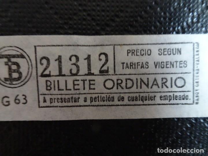 Coleccionismo Billetes de transporte: LOTE DE 11 ANTIGUOS BILLETES TB Y OTRO FERROCARRIL, TODOS CAPICUA, VER FOTOS - Foto 10 - 132199082