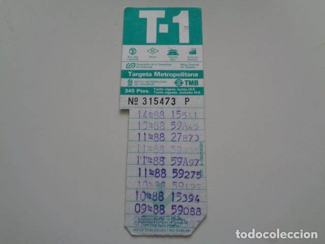 Coleccionismo Billetes de transporte: BARCELONA. TARJETA METROPOLITANA DE TRANSPORTE. TMB. 345 PTAS. 1984. - Foto 2 - 132300966