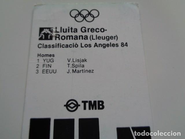 Coleccionismo Billetes de transporte: BARCELONA. TARJETA METROPOLITANA DE TRANSPORTE. TMB. 345 PTAS. 1984. - Foto 3 - 132300966