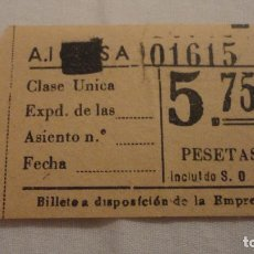 Coleccionismo Billetes de transporte: ANTIGUO BILLETE DE TRANSPORTE.. Lote 133978486