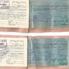 Coleccionismo Billetes de transporte: DOS BILLETE TREN 1961 ZARAGOZA BARCELONA RED NACIONAL FERROCARRILES ESPAÑOLES. Lote 134379138