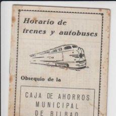 Coleccionismo Billetes de transporte: HORARIO DE TRENES Y AUTOBUSES BILBAO – PALENCIA BILBAO – SAN SEBASTIÁN Y OTROS VER FOTOS . Lote 134729730