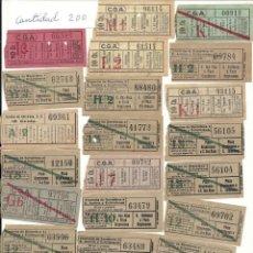 Coleccionismo Billetes de transporte: APROX. 200 BILLETES TRANVIA-BUS BARCELONA.NO CAPICUAS.AÑOS 20-30. Lote 134907254