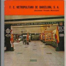 Coleccionismo Billetes de transporte: MEMORIA METRO BARCELONA.AÑO 1974 (ALGUNA HOJA SUELTA). Lote 134909586