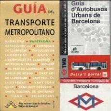 Coleccionismo Billetes de transporte: ENORME LOTE GUIAS TRANSPORTES BARCELONA.AÑOS 70-8O.ALGUNO LONDRES. Lote 134909810