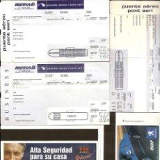 Coleccionismo Billetes de transporte: VEINTENA DE BILLETES DE AVION.DIFERENTES COMPAÑIAS.ALGUNO PUBLICIDAD. Lote 134909946