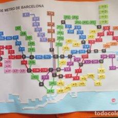 Coleccionismo Billetes de transporte: PLANO EN BRAILLE + LIBRO DE AYUDA DE LA RED DEL METRO DE BARCELONA 60 X 39 CM. LISTADO PARADAS. Lote 136261562
