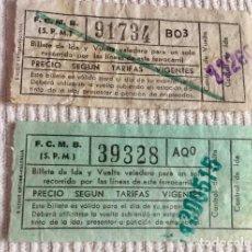 Coleccionismo Billetes de transporte: 2 BILLETES DIFERENTES DE METRO (FCBM) DE BARCELONA. FECHA SIN DETERMINAR. Lote 136705066