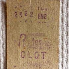 Coleccionismo Billetes de transporte: BILLETE METRO DE BARCELONA. ESTACIÓN CLOT. IMPRESO EN LAS DOS CARAS AÑOS 60.. Lote 136736674