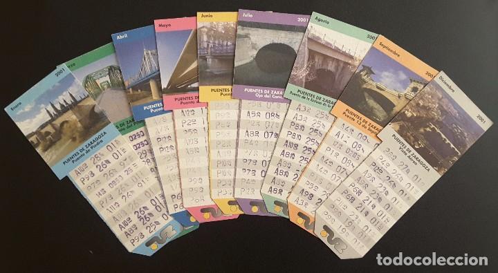 BONO BUS ZARAGOZA AÑO 2001 (Coleccionismo - Billetes de Transporte)