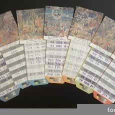 Coleccionismo Billetes de transporte: BILLETES BONO BUS ZARAGOZA AÑO 1999. Lote 137184738