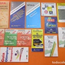 Coleccionismo Billetes de transporte: COLECCION 13 PLANOS GUIA BARCELONA AUTOBUSES AREA METROPOLITANA 1992 A 2011 - EDICIONES EN INTERIOR. Lote 137402390
