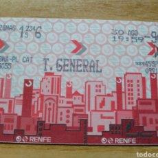 Coleccionismo Billetes de transporte: TÍTOL DE TRANSPORT RODALIES RENFE 1996. Lote 137513876