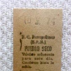 Coleccionismo Billetes de transporte: BILLETE METRO BARCELONA - ESTACIÓN DE EXPEDICIÓN PUEBLO SECO - 1974. Lote 137797218