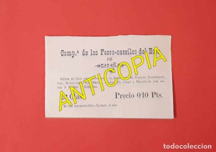 ALMERIA BILLETE DE LIBRE CIRCULACIÓN DE LA COMPAÑÍA DE LOS FERROCARRILES DEL ESTE DE ESPAÑA (Coleccionismo - Billetes de Transporte)