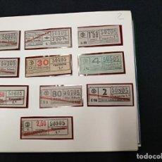 Coleccionismo Billetes de transporte: ALBUM CON 500 BILLETES DE TRANSPORTE CAPICUAS DEL 50005 AL 99999 INCLUYENDO EL 00000. Lote 138162954