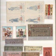 Coleccionismo Billetes de transporte: ALBUM BILLETES TRANSPORTE.ALGUNOS MUY ANTIGUOS.INTERESANTE. Lote 139065282
