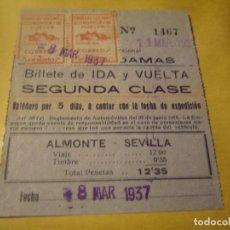 Coleccionismo Billetes de transporte: ANTIGUOS BILLETES DE TRANSPORTE . Lote 139741794