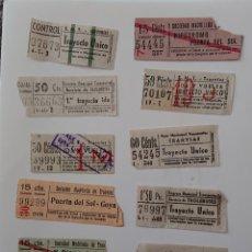 Coleccionismo Billetes de transporte: LOTE DE BILLETES, TRANVÍAS, MADRID, CAPICÚAS, ORIGINALES, VED FOTO. Lote 140402082