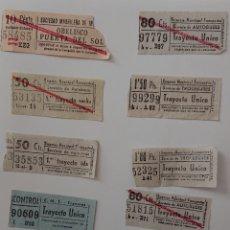 Coleccionismo Billetes de transporte: LOTE BILLETES DE TRANVÍA CAPICÚAS, ORIGINALES, VED FOTOS. Lote 140405649