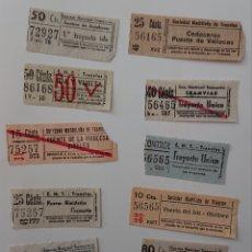 Coleccionismo Billetes de transporte: LOTE BILLETES TRANVÍA CAPICÚAS DE MADRID, ORIGINALES Y BUEN ESTADO, VED FOTOS. Lote 140405818