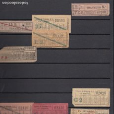 Coleccionismo Billetes de transporte: COLECCION CAPICUA CAPICUAS - EMPRESA TRANVIAS DE BARCELONA - 550 BILLETES NUMEROS DISTINTOS. Lote 140853026