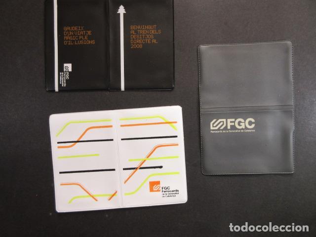 COLECCION 3 PORTA TARJETA DIFERENTES FERROCARRILES GENERALITAT BARCELONA RENFE AUTOBUS METRO TRANVIA (Coleccionismo - Billetes de Transporte)