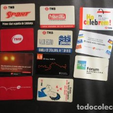 Coleccionismo Billetes de transporte: COLECCION 11 PORTA TARJETA DIFERENTES TMB BARCELONA - FERROCARRIL METRO AUTOBUS RENFE TRANVIA. Lote 142151590