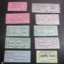 Coleccionismo Billetes de transporte: COLECCION 11 BILLETES DIFERENTES TRANVIA DE SOLLER MALLORCA PALMA FERROCARRIL . Lote 142155974