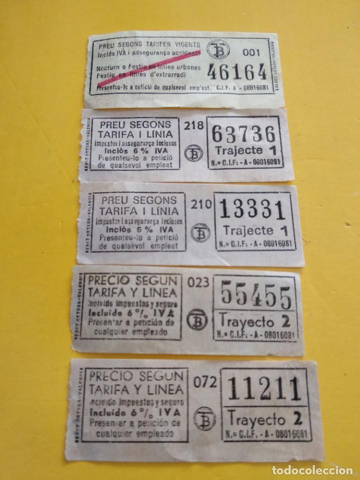 BILLETES ANTIGUOS DE TRANSPORTE VALENCIA (Coleccionismo - Billetes de Transporte)