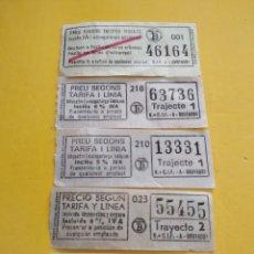 Coleccionismo Billetes de transporte: BILLETES ANTIGUOS DE TRANSPORTE VALENCIA. Lote 142555582