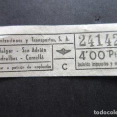 Coleccionismo Billetes de transporte: 24142 CAPICUA URBANIZACIONES Y TRANSPORTES URBAS VER TRAYECTOS Y PRECIO. Lote 142964254