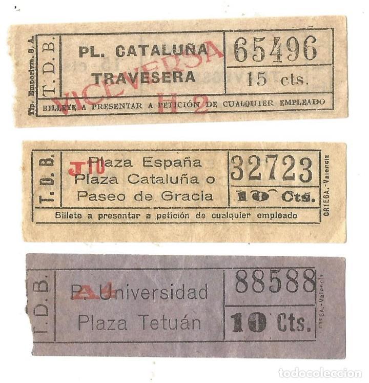 BILLETES CAPICUA TRANVIAS DE BARCELONA BILLETE TRANSPORTE TRANVIA (Coleccionismo - Billetes de Transporte)
