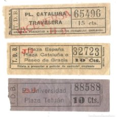 Coleccionismo Billetes de transporte: BILLETES CAPICUA TRANVIAS DE BARCELONA BILLETE TRANSPORTE TRANVIA. Lote 144279138
