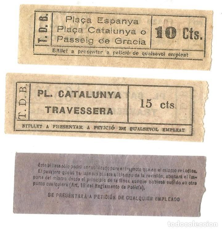 Coleccionismo Billetes de transporte: BILLETES CAPICUA TRANVIAS DE BARCELONA BILLETE TRANSPORTE TRANVIA - Foto 2 - 144279138