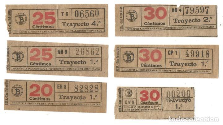 BILLETE CAPICUA TRANVIAS DE BARCELONA BILLETES TRANSPORTE TRANVIA (Coleccionismo - Billetes de Transporte)