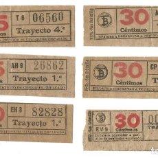 Coleccionismo Billetes de transporte: BILLETE CAPICUA TRANVIAS DE BARCELONA BILLETES TRANSPORTE TRANVIA. Lote 144279302