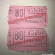 Coleccionismo Billetes de transporte: BILLETES TRANVÍA BARCELONA ANTIGUOS. Lote 144348878